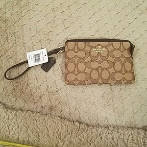 Coach Outline Signature wallet/wristlet